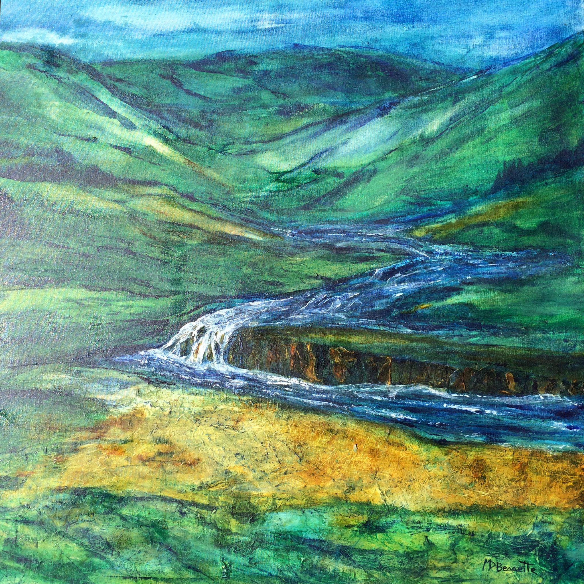Vallée façonnée par l'eau