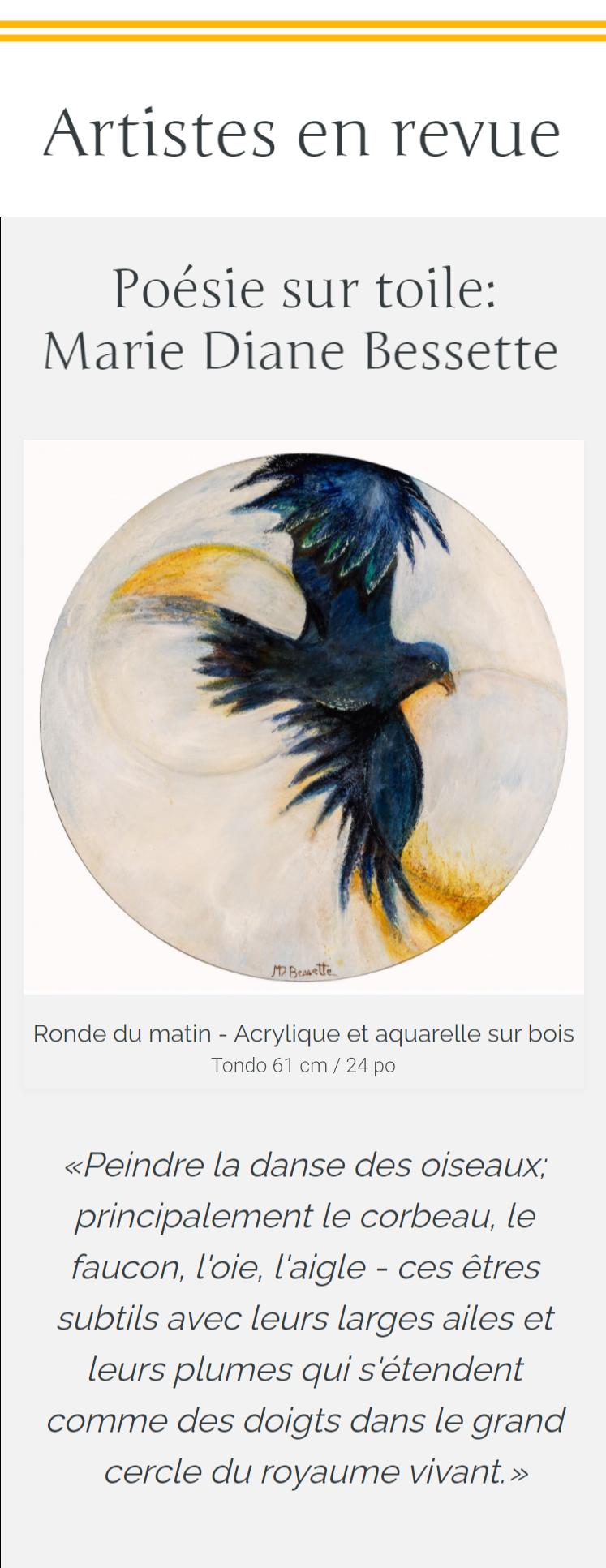 Circle Foundation for the Art - Artiste en revue